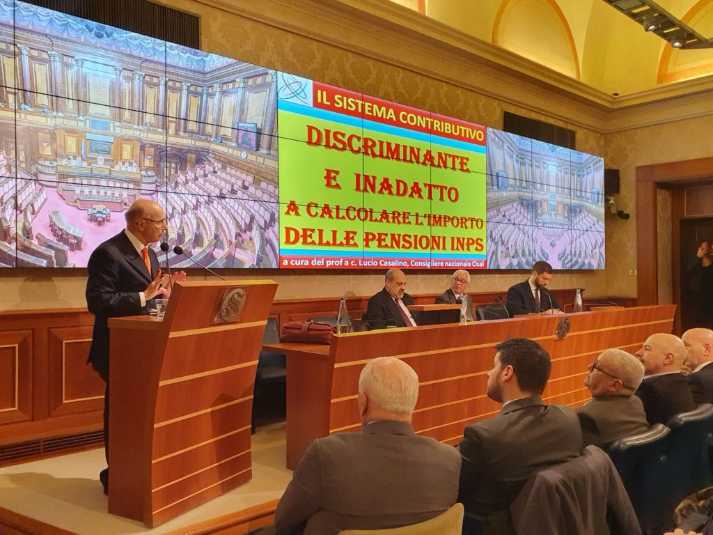 cisal incontro senato riforma previdenziale