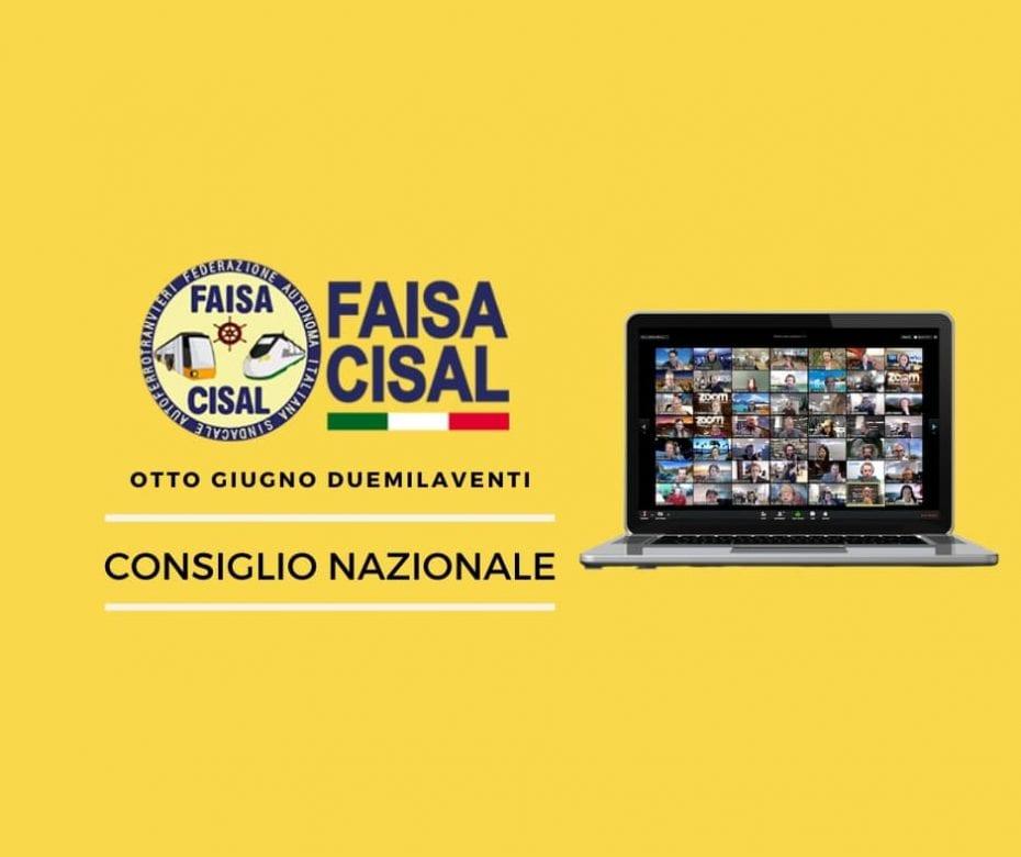 Copertina Consiglio Nazionale FAISA CISAL